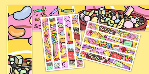 Sweets Display Borders - sweets, display borders, display, border