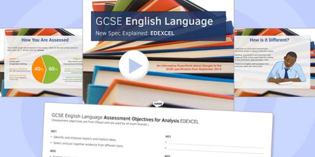 GCSE English Language New Spec Explained EDEXCEL - gcse, new spec, edexcel