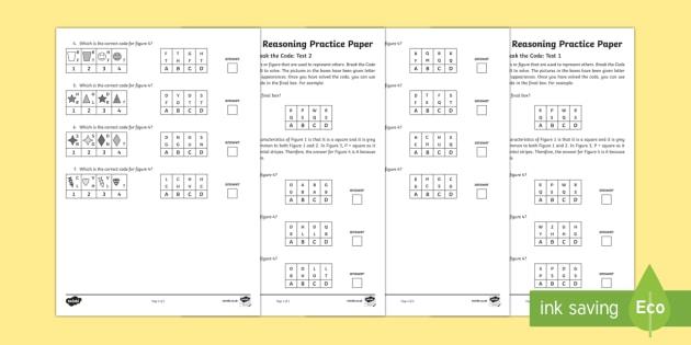 11+ Non Verbal Reasoning Code Breaking Assessment Pack - 11+ Practice Resources, non verbal reasoning, code breaking, 11 plus, eleven plus, practice, practis