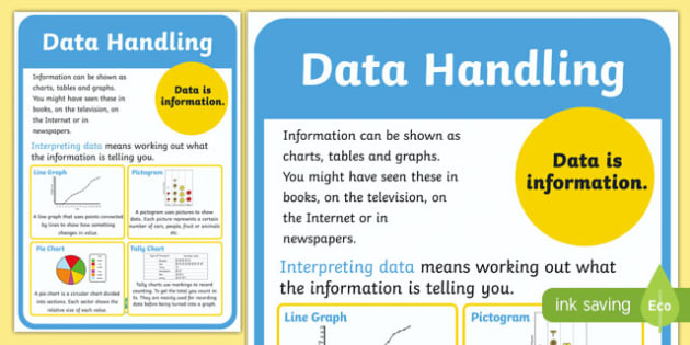 Data Handling Poster - data handling, data handling display poster, data handling definition poster, data poster, poster about data, maths display poster