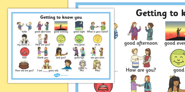 Getting to Know You Word Mat - getting to know you, word mat, know, you, word, mat