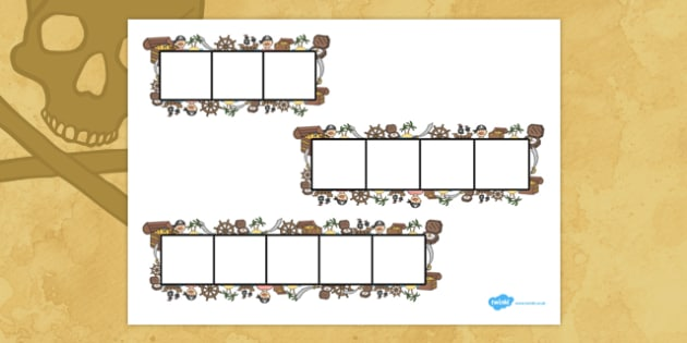 Pirates Phoneme Frames - Phoneme Frames printable, pirate, phoneme frame, phoneme, phonemes, Segmenting, DfES Letters and Sounds, Letters and sounds, KS1 Literacy, Phase one, Phase 1, Phase two, Phase 2, Phase three, Phase 3