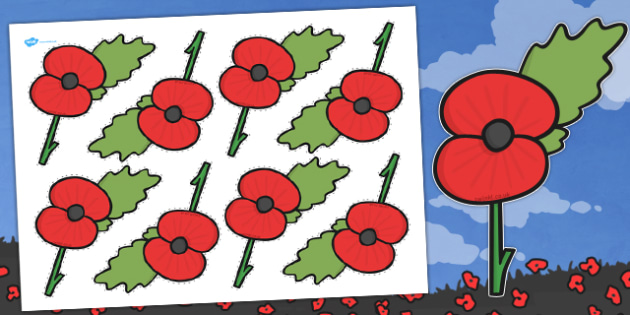 Remembrance Day Poppy Cut Outs - australia, remembrance day, cut