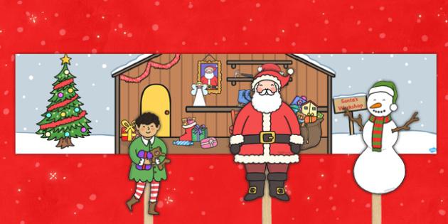 Santa's Workshop Small World Pack - santas workshop, small world, santas workshop small world, small world pack, role play pack, christmas small world