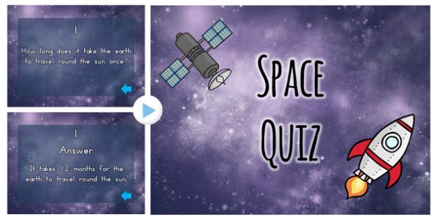 Space Quiz Plenary PowerPoint - australia, space, quiz, plenary