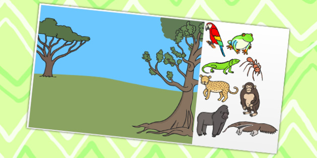 Jungle Themed Editable PowerPoint Background Template - jungle, editable powerpoint, powerpoint, background template, themed powerpoint, editable