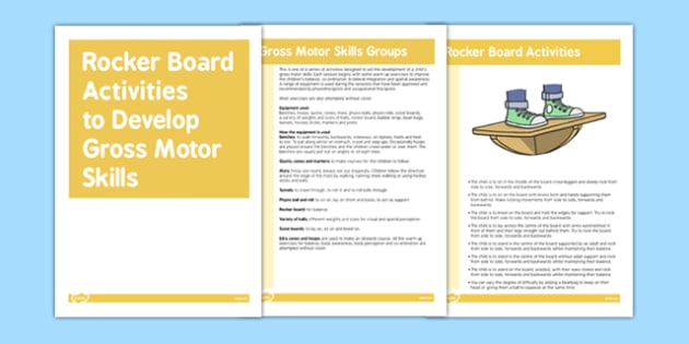 Rocker Board Gross Motor Skills Activities - Motor, Skills, Board