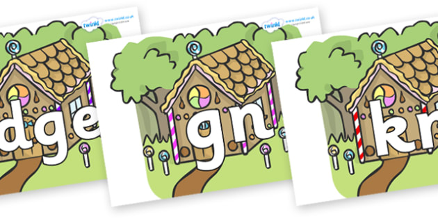 Silent Letters on Gingerbread House - Silent Letters, silent letter, letter blend, consonant, consonants, digraph, trigraph, A-Z letters, literacy, alphabet, letters, alternative sounds