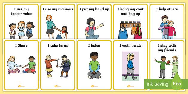 Golden Rules Display Posters - SEN, special educational needs, golden rules, behaviour, good, positive, display, poster, eyfs, nurs