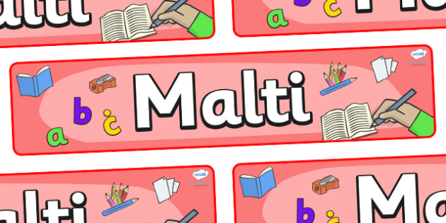 Malti Display Banner - Malti, Maltese, display, banner, poster, sign, Malta