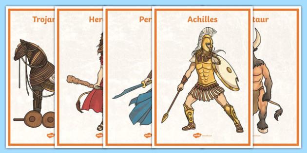 Greek Myth Display Posters - myths, ancient, greek, displays