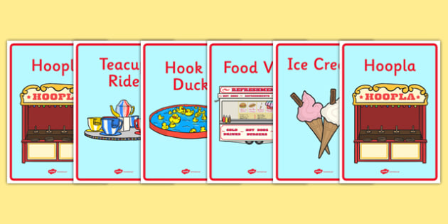 The Fairground Role Play Display Posters - fairground, role, play, display, posters, fairground posters, fairground role play, role play, display posters