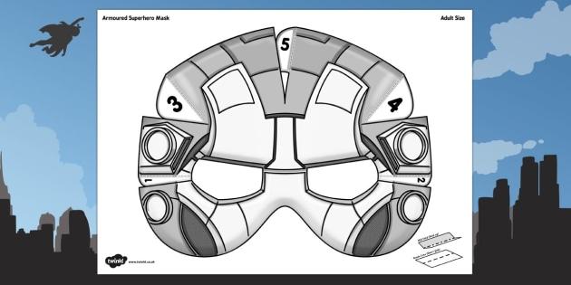3D Armoured Superhero Mask Printable - 3d, armoured, superhero, mask, printable, captain america, superheroes, avengers