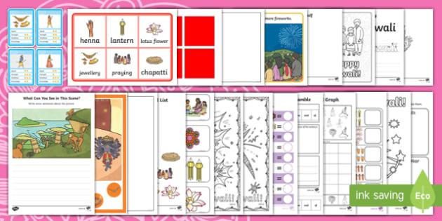 KS1 Diwali  Activity Pack-Australia, Rama and Sita
