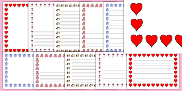 Valentine's Day Page Borders - valentines day, borders, frames