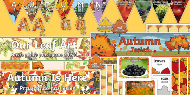 Autumn Topic Display Pack Polish Translation-Polish-translation