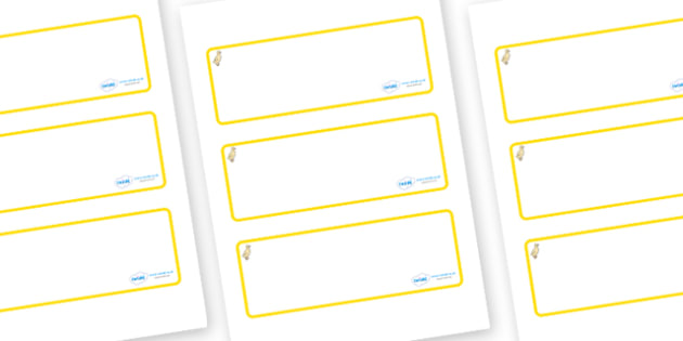 Duckling Themed Editable Drawer-Peg-Name Labels (Blank) - Themed Classroom Label Templates, Resource Labels, Name Labels, Editable Labels, Drawer Labels, Coat Peg Labels, Peg Label, KS1 Labels, Foundation Labels, Foundation Stage Labels, Teaching Lab