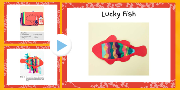 Lucky Fish Chinese New Year Craft PowerPoint - craft, lucky