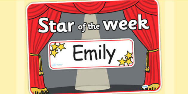 Star of the Week Stage A3 Poster Editable - star, week, a3, editable