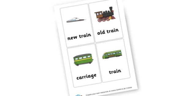 Trains - Transport Signs & Labels Primary Resources, signs, labels