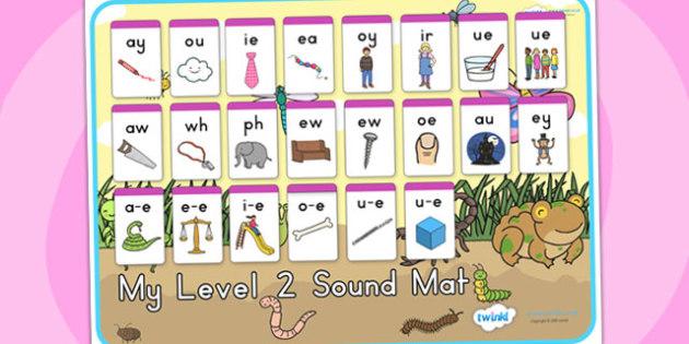 Minibeasts Cute Level Two Sound Mat - sounds, sounds mat, level 2