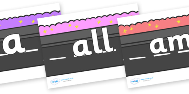 Foundation Stage 2 Keywords on Roads - FS2, CLL, keywords, Communication language and literacy,  Display, Key words, high frequency words, foundation stage literacy, DfES Letters and Sounds, Letters and Sounds, spelling