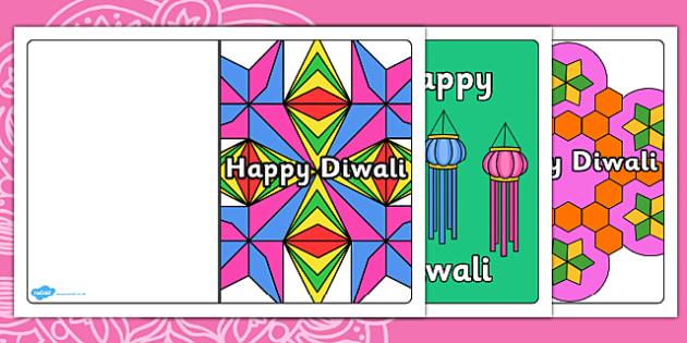 Diwali Card Templates - editable, card template, editable template, card design, design, card, Diwali, religion, hindu, hanoman, rangoli, sita, ravana, pooja thali, rama, lakshmi, golden deer, diva lamp, card template, foundation stage, Template,