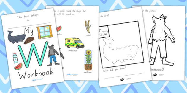 My Workbook W Lowercase - letter formation, writing, tracing