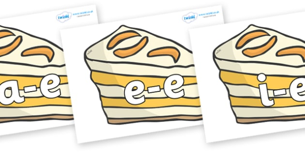 Modifying E Letters on Peach Desserts to Support Teaching on The Lighthouse Keeper's Lunch - Modifying E, letters, modify, Phase 5, Phase five, alternative spellings for phonemes, DfES letters and Sounds