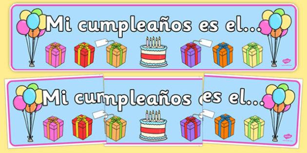 Birthday Board Banner Spanish - spanish, birthday, board, banner, display, birthday board