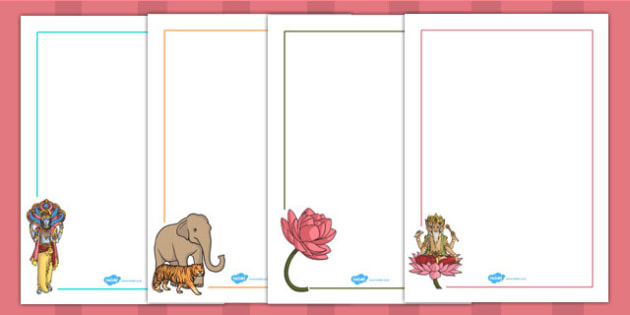 Hindu Creation Story Page Borders - hinduism, religion, RE