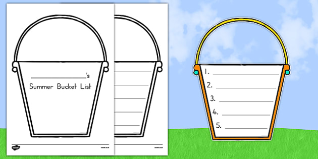 Summer Bucket List - usa, america, summer, bucket list, bucket, list