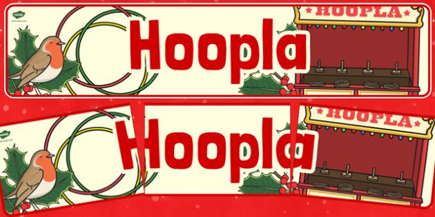 Christmas Themed Hoopla Banner - christmas fair, display banner, display, banner, hoopla