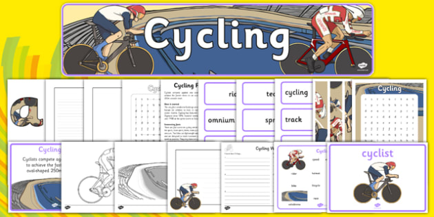 The Olympics Cycling Resource Pack - Cycling, Olympics, Olympic Games, sports, Olympic, London, 2012, resource pack, pack resources, activity, Olympic torch, events, flag, countries, medal, Olympic Rings, mascots, flame, compete