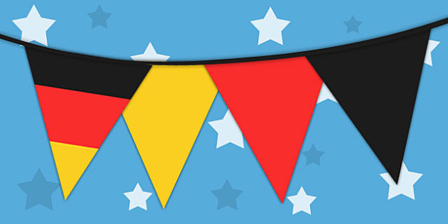 Germany Flag Bunting - germany, flag, bunting, display bunting