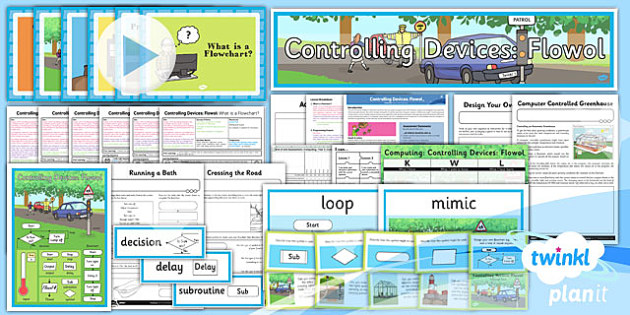 PlanIt - Computing Year 5 - Controlling Devices Flowol Unit Pack