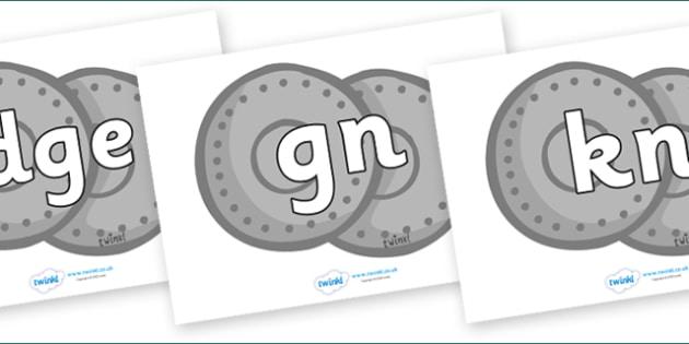 Silent Letters on Shields - Silent Letters, silent letter, letter blend, consonant, consonants, digraph, trigraph, A-Z letters, literacy, alphabet, letters, alternative sounds