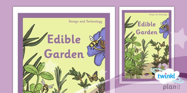 PlanIt - DT LKS2 - Edible Garden Unit Book Cover - planit, lks2, book cover, design and technology, dt, edible garden