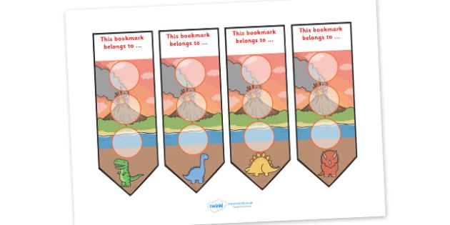 Dinosaur Sticker Reward Bookmarks (30mm) - Dinosaur Reward Bookmarks (30mm), dinosaur, reward bookmarks, bookmarks, reward, 30mm, 30 mm, stickers, twinkl stickers, award, certificate, well done, behaviour management, behaviour,