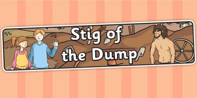 Stig of the Dump Display Banner - stig, display banner, banner