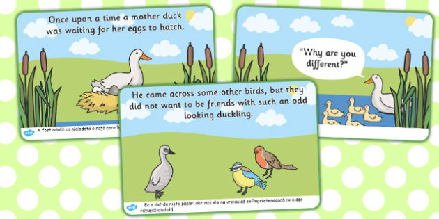 The Ugly Duckling Story Romanian Translation - romanian, story