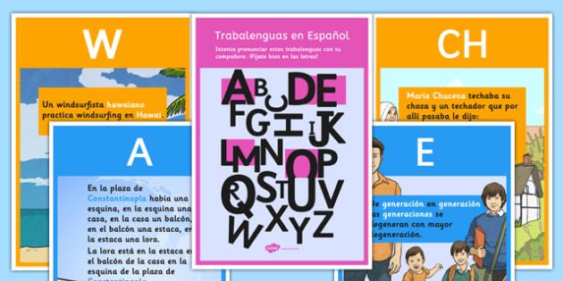 Trabalenguas en español para sonidos específicos - spanish, trabalenguas, tongue twisters, alphabet, practice sounds, alphabet, sonidos, speaking