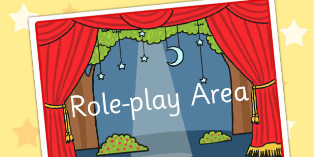Role Play Area Display Sign - role play area, role play display poster, role play display, role play poster, role play area poster, role play