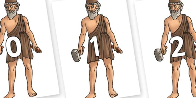 Numbers 0-31 on Hephaestus - 0-31, foundation stage numeracy, Number recognition, Number flashcards, counting, number frieze, Display numbers, number posters