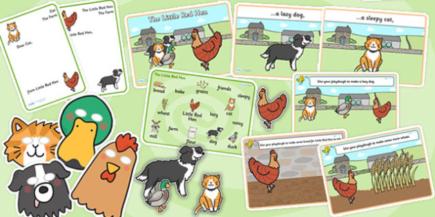 The Little Red Hen Story Sack - story sack, story books, story book sack, stories, story telling, childrens story books, traditional tales