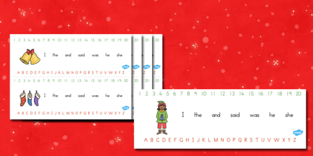 Australia Combined Alphabet and Number Strips Christmas - christmas, xmas