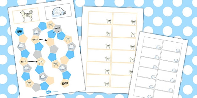 Polar Regions Themed Editable Board Game - polar, board, game