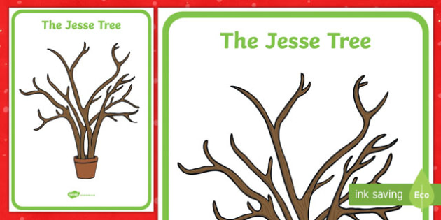 The Jesse Tree Large Display Poster-Irish