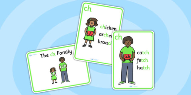 ch Sound Family Member Posters-ch, sounds, ch sound, sound families, ch sound family, posters, sounds poster, ch posters, words, sounds, letters, literacy