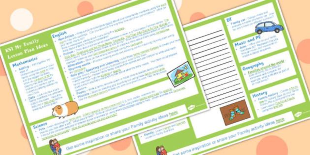 My Family KS1 Lesson Plan Ideas - Family, Lesson, Plan, Ideas